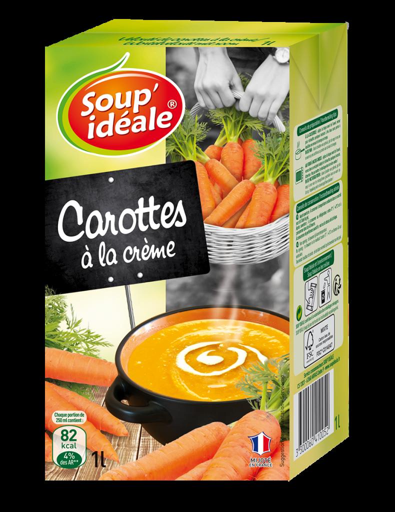 Velouté de carottes à la crème