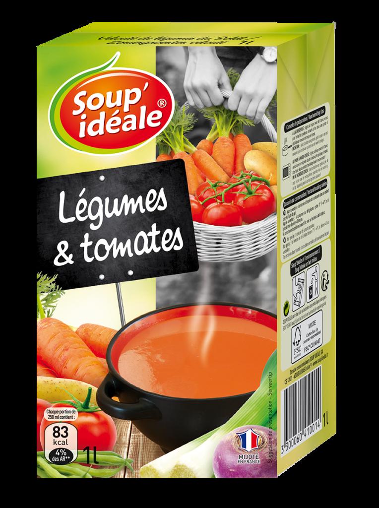 Velouté de légumes et tomates